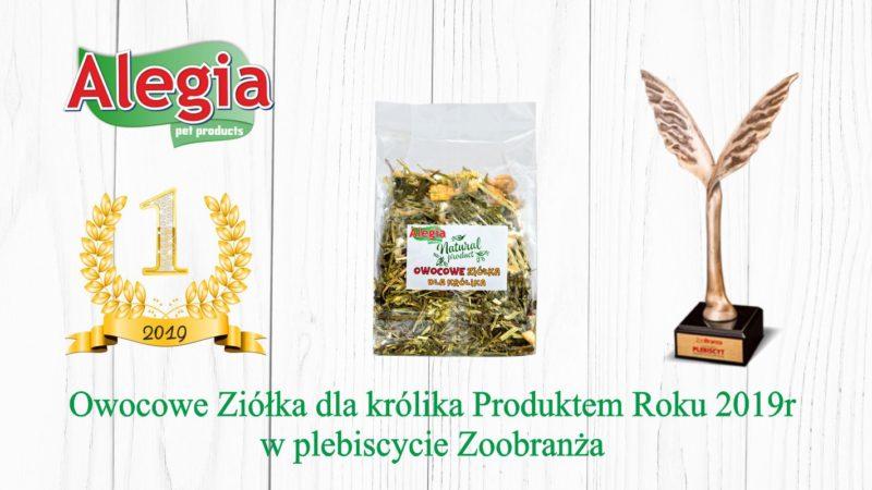 Alegia Owocowe Ziółka dla Królika Produktem Roku 2019r