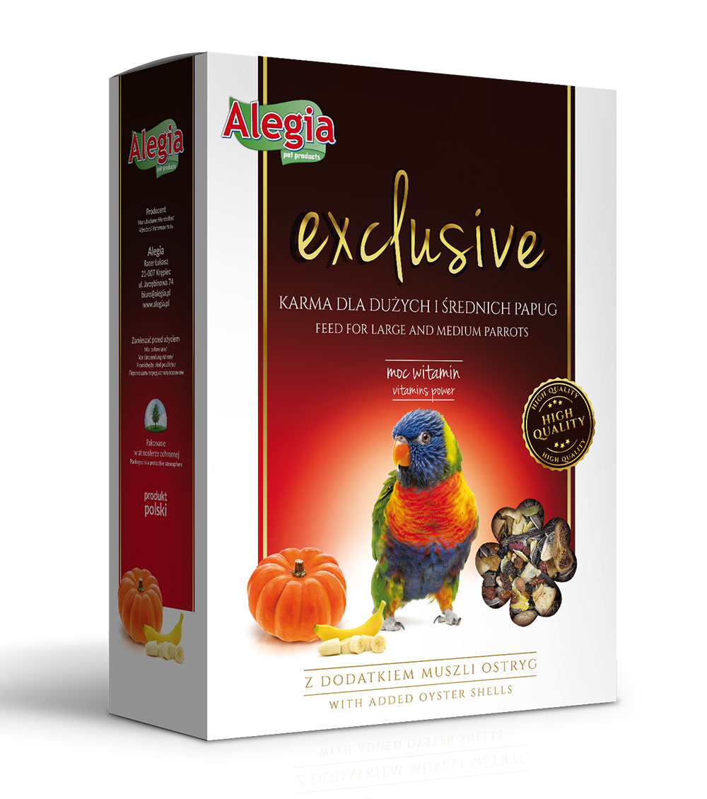 Exclusive Papuga d. i śred. 700g Alegia