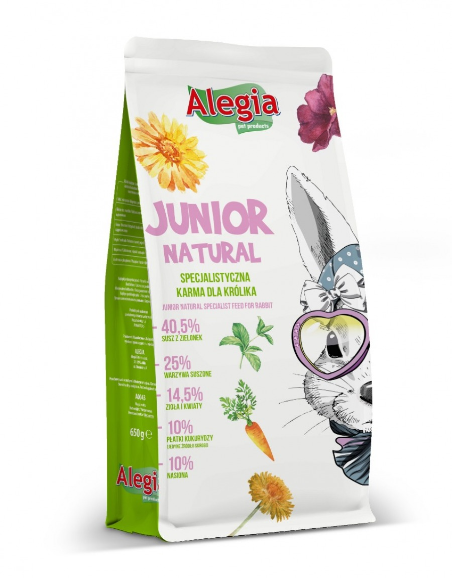 Karma Junior Natural dla Królika 650g Alegia
