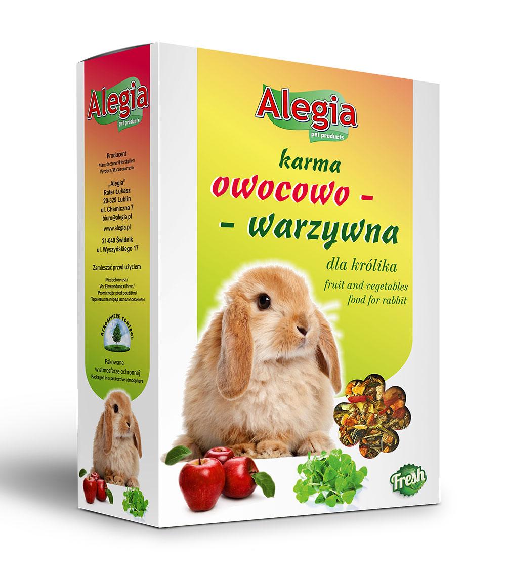 Karma owoce warzywa Królik 340g Alegia